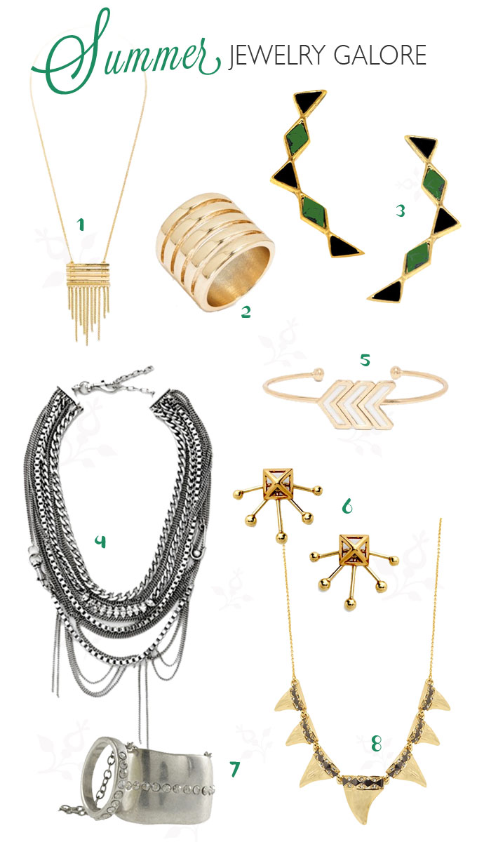 Summer Jewelry Galore Summerjewelry Summer Is A Time Where We Most Likely Wear Less Clothing And Accessories Become The Main Character Of The Season